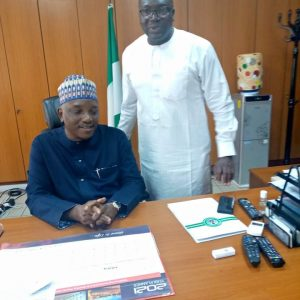 Emma Bello with Minister of power after confirming attendance
